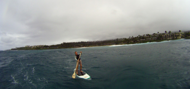 Sunday after the tsunami – Gusty winds make for a good SUP day