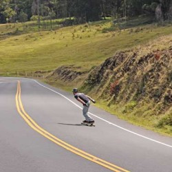 Carve and Slide down the volcano
