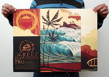 reef-hawaiian-pro-poster
